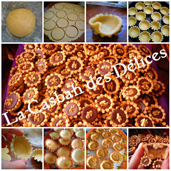 Tartelettes au chocolat et lait concentré