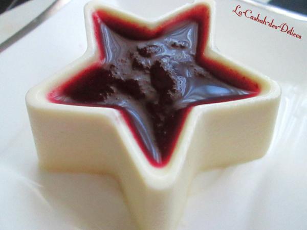 Panacotta au chocolat blanc