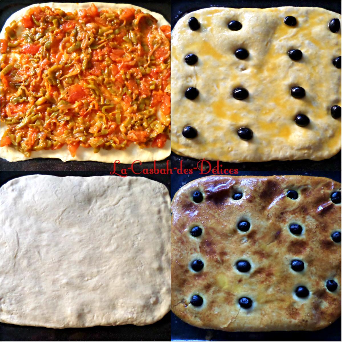 Coca algérienne : pizza couverte