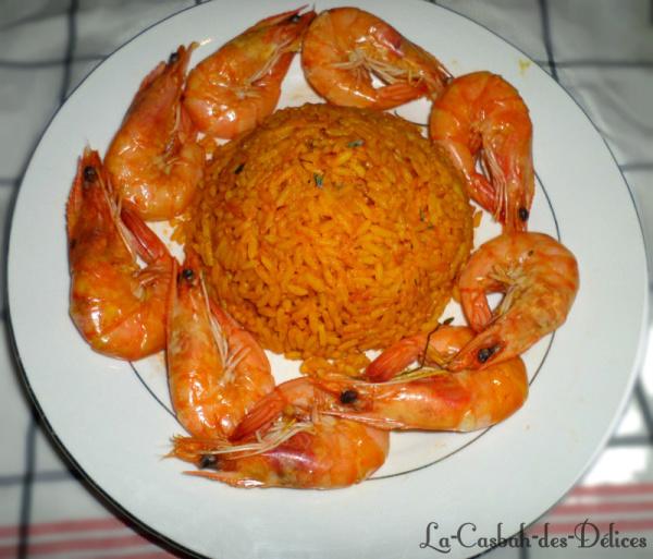 Riz en sauce aux Crevettes