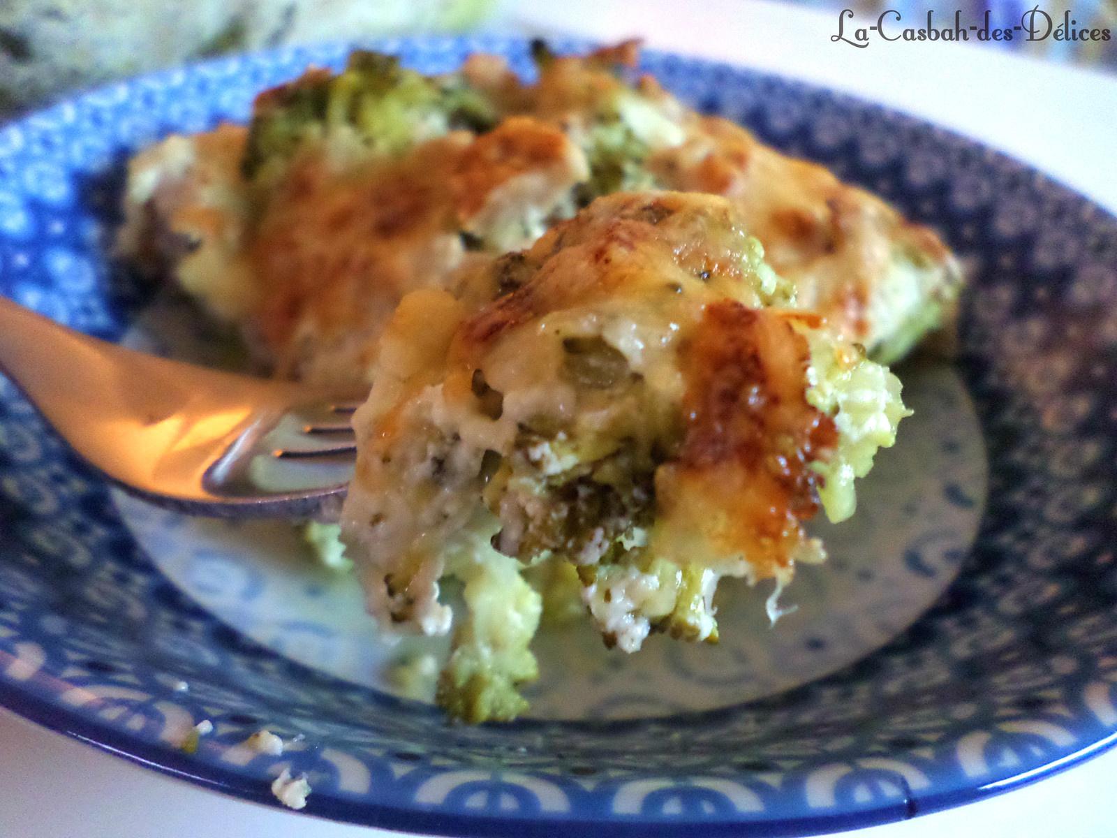 Gratin express de brocoli au thon