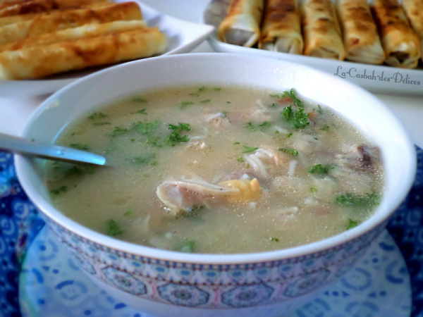 Chorba beida : soupe blanche algérienne