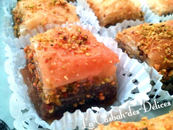 Baqlawa ou baklawa à la pâte filo
