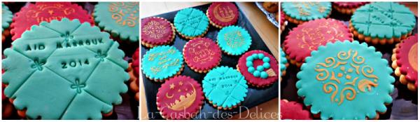 Biscuits au pralin et lait concentré, Sablés décorés