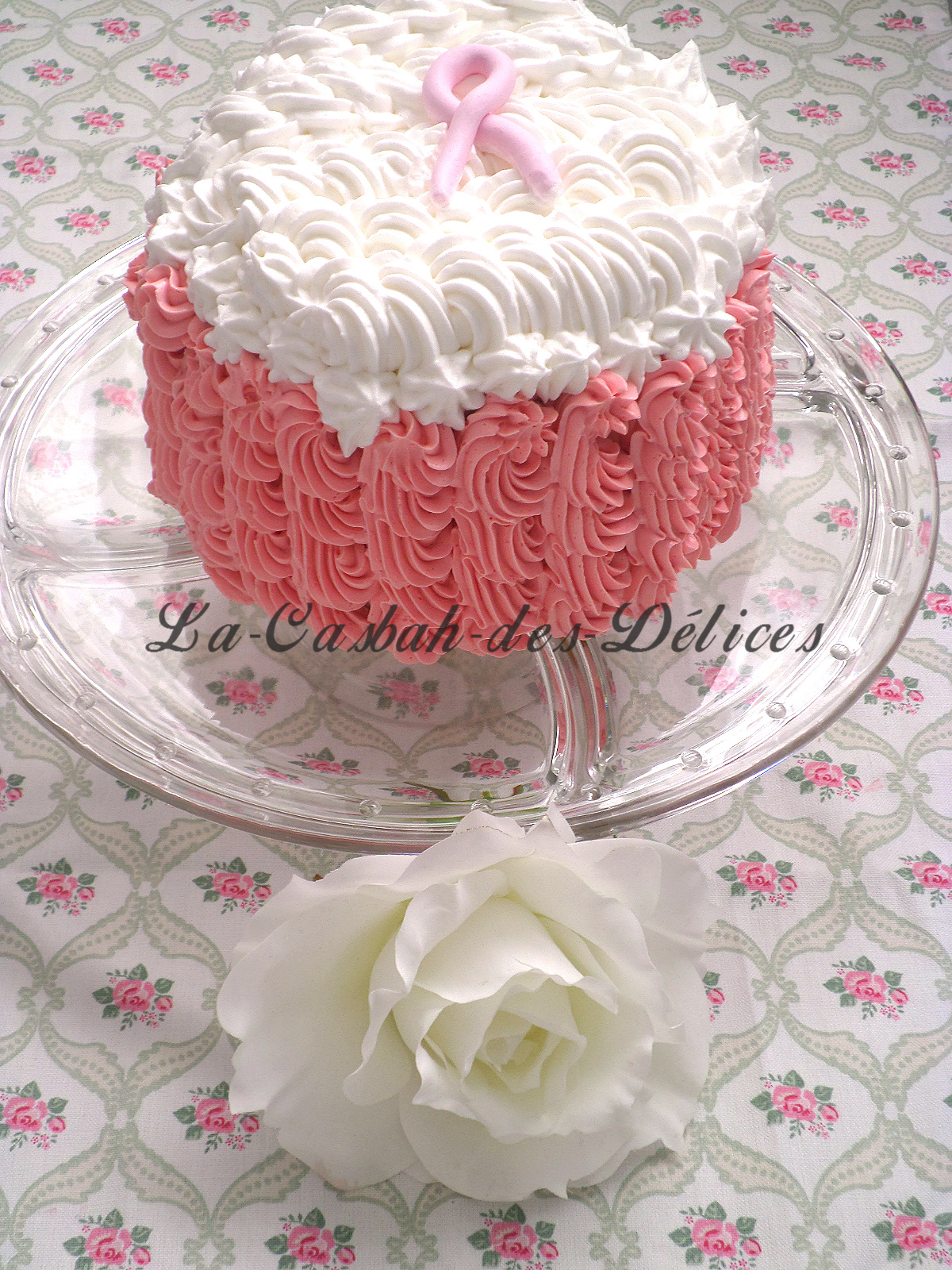 Octobre Rose - Molly cake et swiss buttercream rose