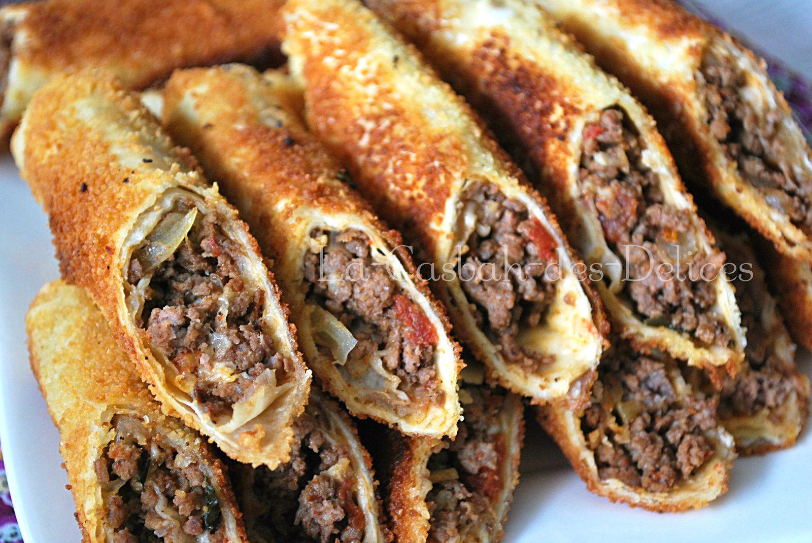 Boreks panés et frits