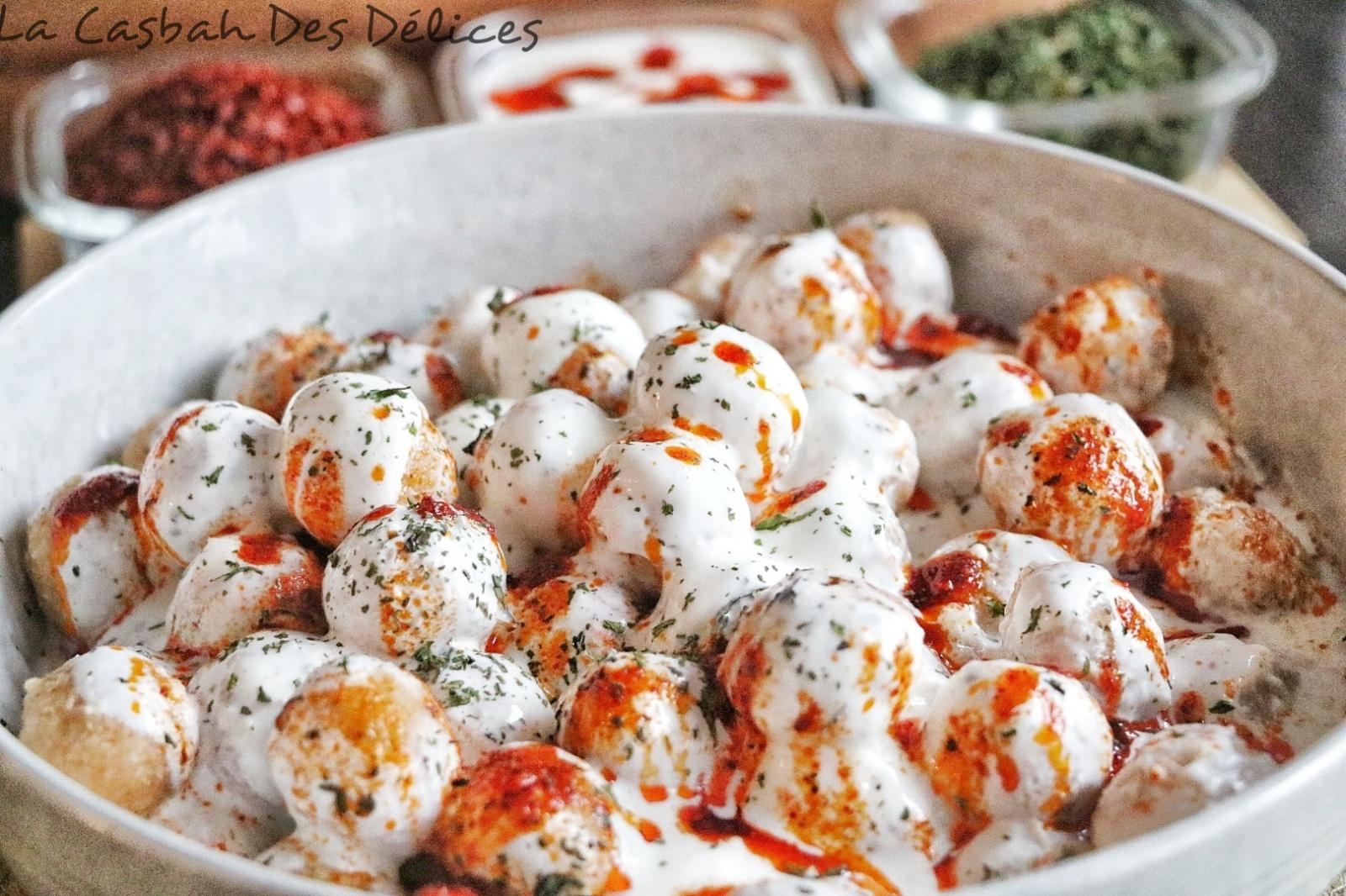 Bulgur Köftesi : Boulettes de boulgour au yaourt