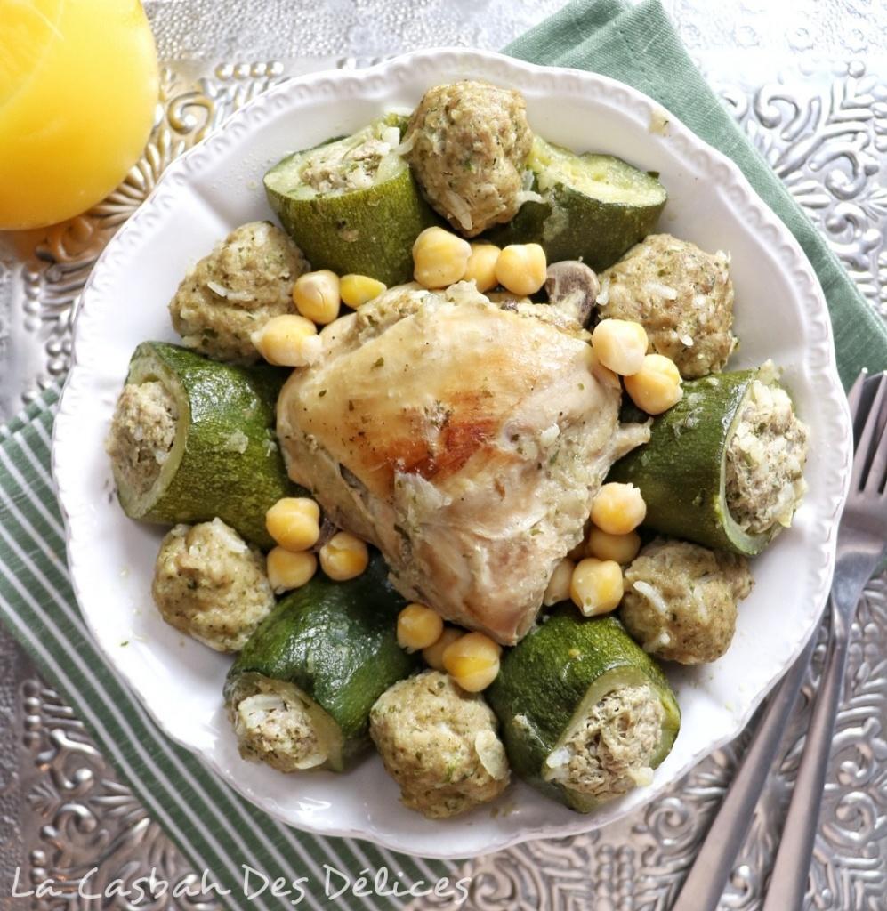 Dolma courgettes au poulet