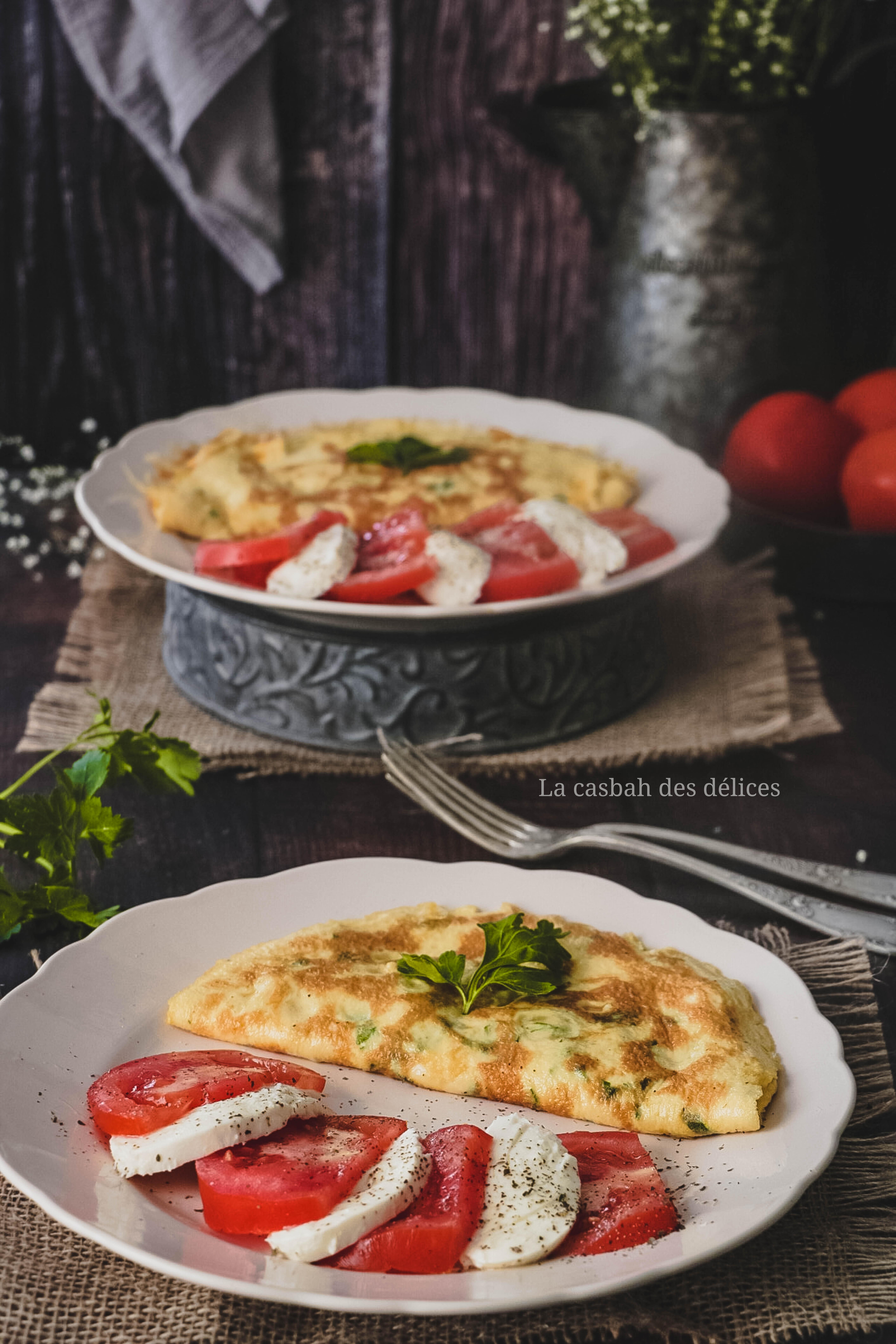 omelette à la crème fraîche